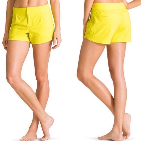 Athleta Wahina Shorts Ahoy Yellow 12
